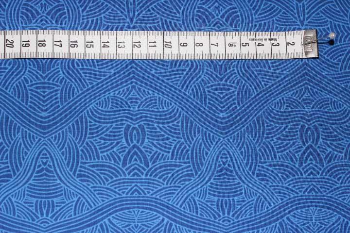 Stöfflerin Aborigini Stoff Farben Blau Hellblau